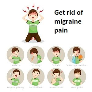 get rid of migraine pain